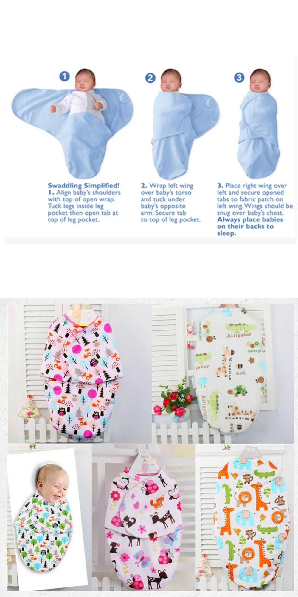 e940ff9f76093 Baby Swaddling Blankets Newborn Infant 100% Towel Wrap Soft Flannel  Parisarc Envelope Double Layer Cotton