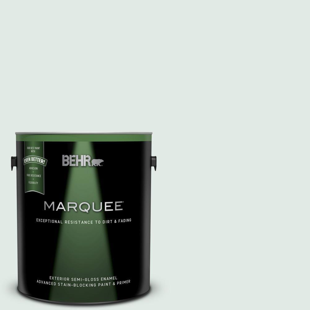 BEHR MARQUEE 1 gal  #480E-1 Country Mist Semi-Gloss Enamel