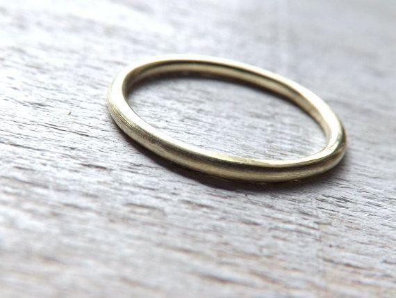 Goldring breit  zarter Gold Ring, schlichter Goldring, schmaler Ring 1,5mm breit ...