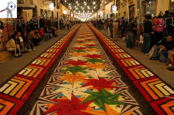 Alfombra o tapete de aserrin huamantla tlaxcala m xico Alfombras persas en mexico