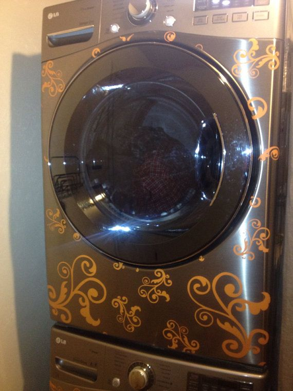 For a spruce up for my old washer and dryer vinyl decals for washer and dryer by gracefullivingdesign on etsy 28 00