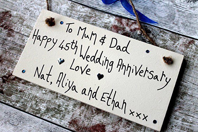 MadeAt94 45 Years Anniversary Gift Mum Dad Grandma Grandad
