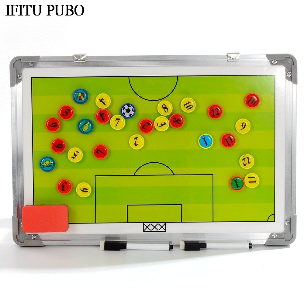 New Magnetic Football Coaching Tactic Board Soccer Coach Tactics Book Set With Pen Dry Erase Clipboard Football Supplies Wyq Coaching Soccer Football Supplies