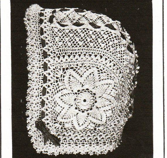 Downton Abbey era crochet pattern for babies bonnet pdf   Vintage ...