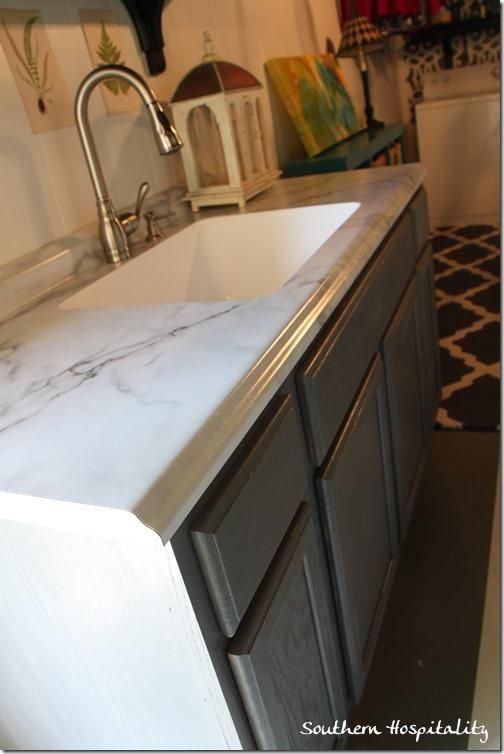 Karran Sink And Formica Countertop Calacatta Marble