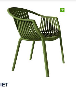 groene kunststof stoel