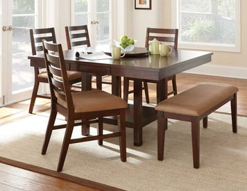 Steve Silver Company Eden Modern Dining Table With Leaf And Lazy Susan In Dark  Cherry     Lowest Price Online On All Steve Silver Company Eden Modern  Dining ...