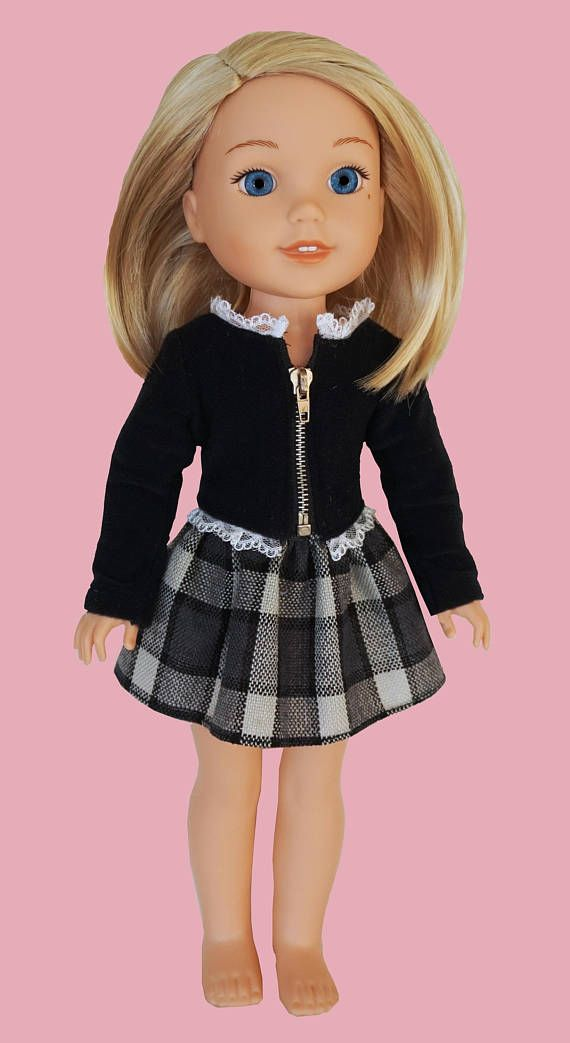 14 Inch Doll Clothes Wellie Wisher School Set Mine To Love