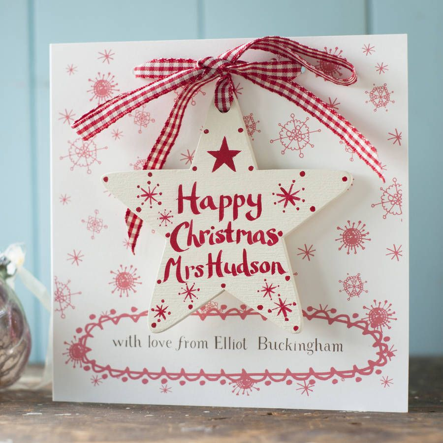 Personalised Christmas Card And Gift For A Teacher Greeting Cards