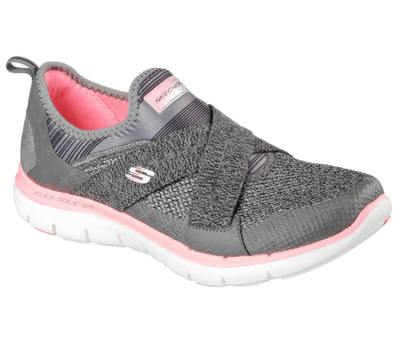 1e664eed37d Put some advanced sporty style and comfort on your feet with the SKECHERS  Flex Appeal 2.0 - New Image shoe. Soft mesh fabric and synthetic upper in a  slip ...
