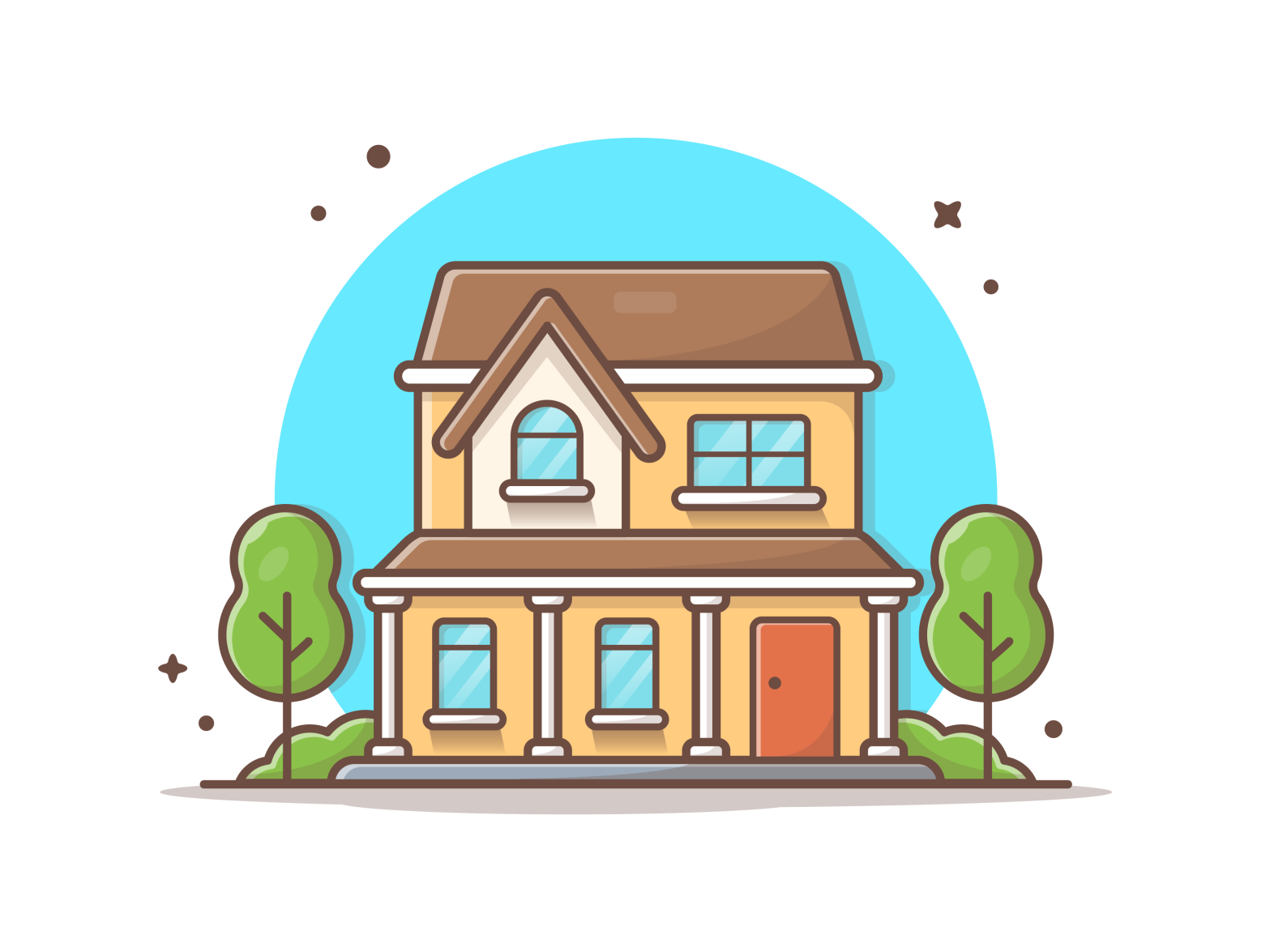 Another House 🏡 🤓 Line icon, Building illustration