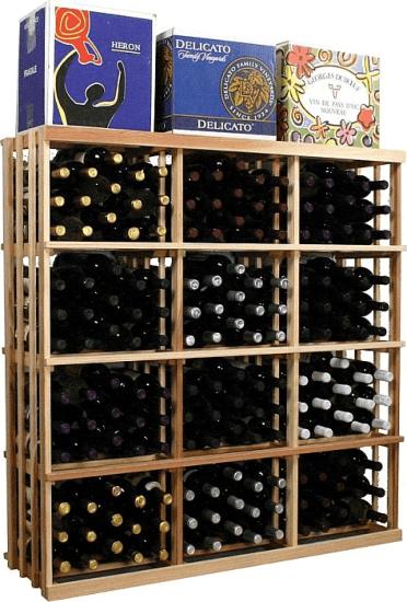 Vintner Series 180 Bottle Floor Wine Rack In Unfinished Wine