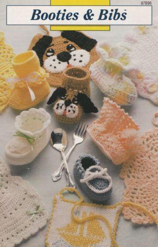 Baby Booties Amp Bibs Annie 039 S Crochet Pattern Booklet 87b96 Rare