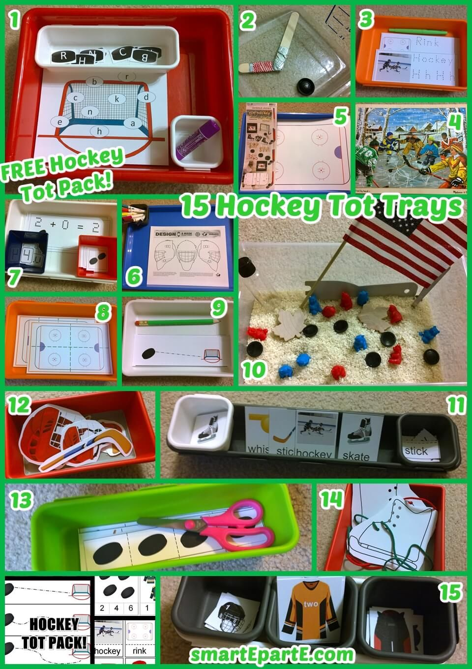 15 Hockey Tot Trays for Sports Tot School or Preschool! | Tot school ...