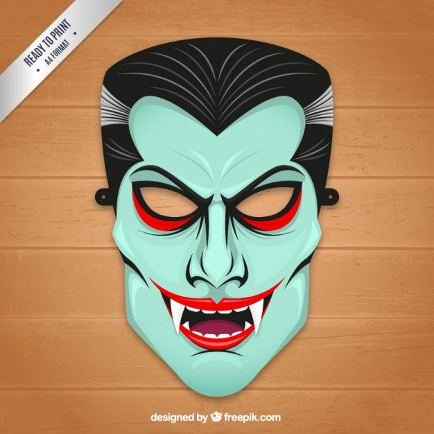 Vampiro máscara | Recursos Gráficos | Pinterest | Vampiros, Máscaras ...