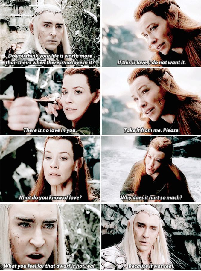 I Think Thranduil And Tauriel Have A Special Connection After This
