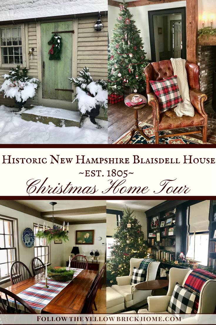 Historic New Hampshire Blaisdell House Christmas Tour – Follow The Yellow Brick Home