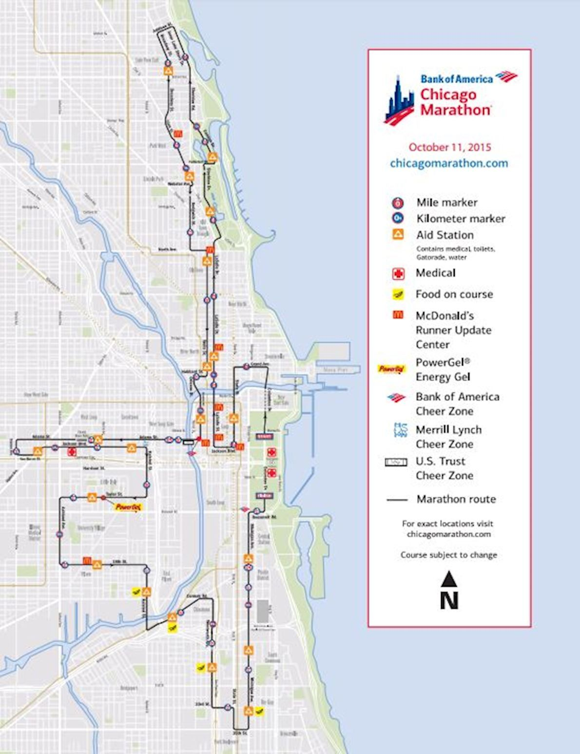 bank of america chicago marathon route map | running