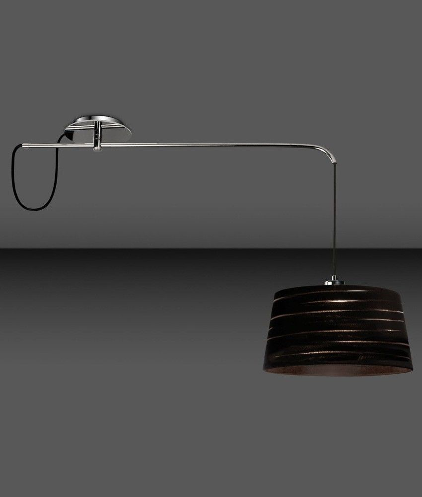 Lampadario Con Punto Luce Decentrato adjustable chrome offset ceiling pendant - 3 shade options