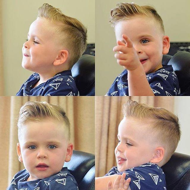 how to cut boys hair pompadour
