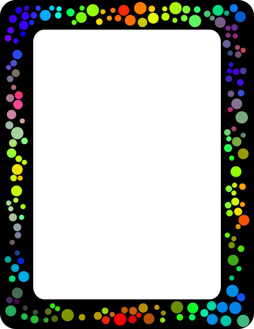 Dot Border Scrapbook Frames Page Frames Frame Border Design