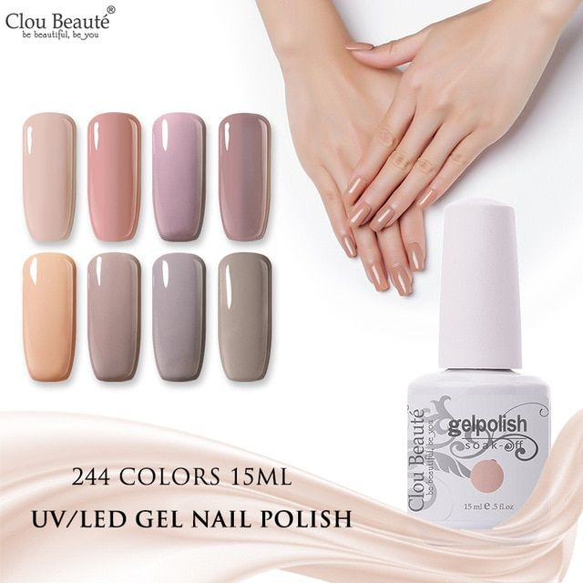 Clou Beaute 15ml Semi Permanent Manicure UV Varnish Gel