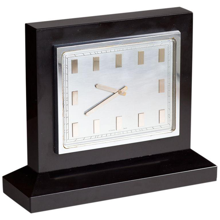 Art Deco Black Marble Clock C 1930 1stdibs Com Antique Clocks For Sale Marble Clock Art Deco Clock