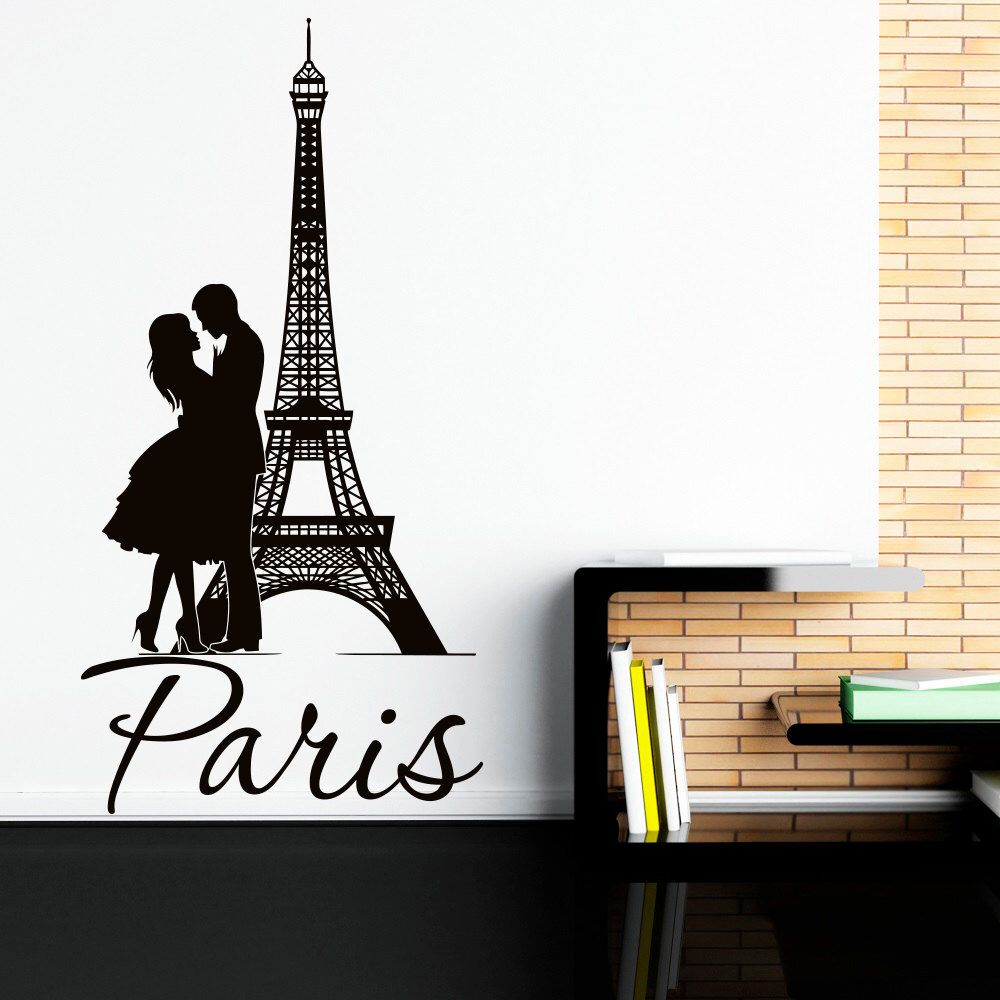 eiffel tower wall decal paris wall decals vinyl stickers paris eiffel tower wall decal paris wall decals vinyl stickers paris skyline silhouette france romantic love living room art bedroom decor c076