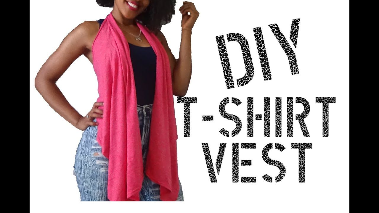 Diy how to make a vest from a t shirt youtube in 2020