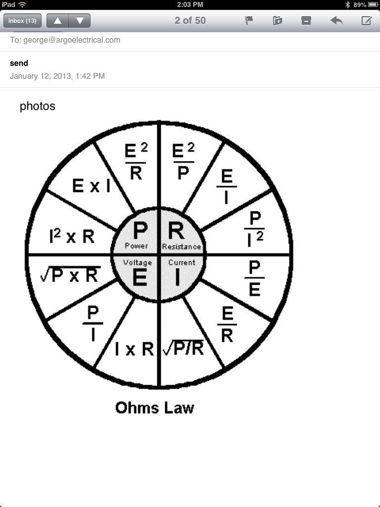 Ohm S Law Power Wheel Ohms Law Diy Electrical Free Energy