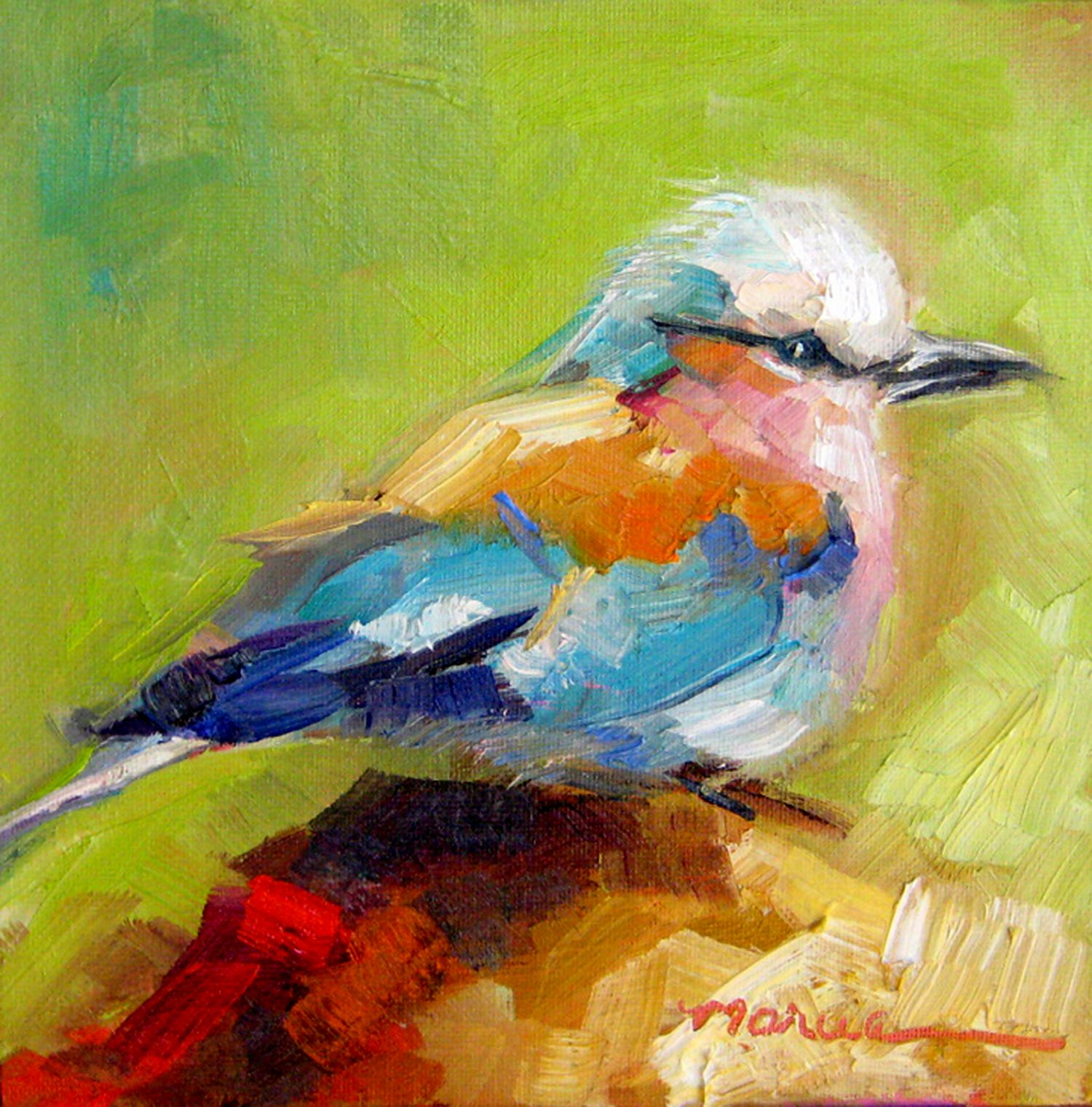 Painting By The Lake Little Bird Sold Painting Art Original Fine Art