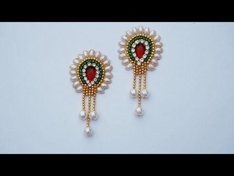 How To Make Designer Earrings How To Make Bridal Earrings
