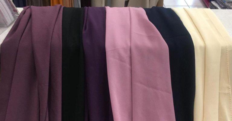 0281a1be368d1e maxi hijab mousseline couleurs qalam dress beige noir camel rose violet vert  moutarde corail