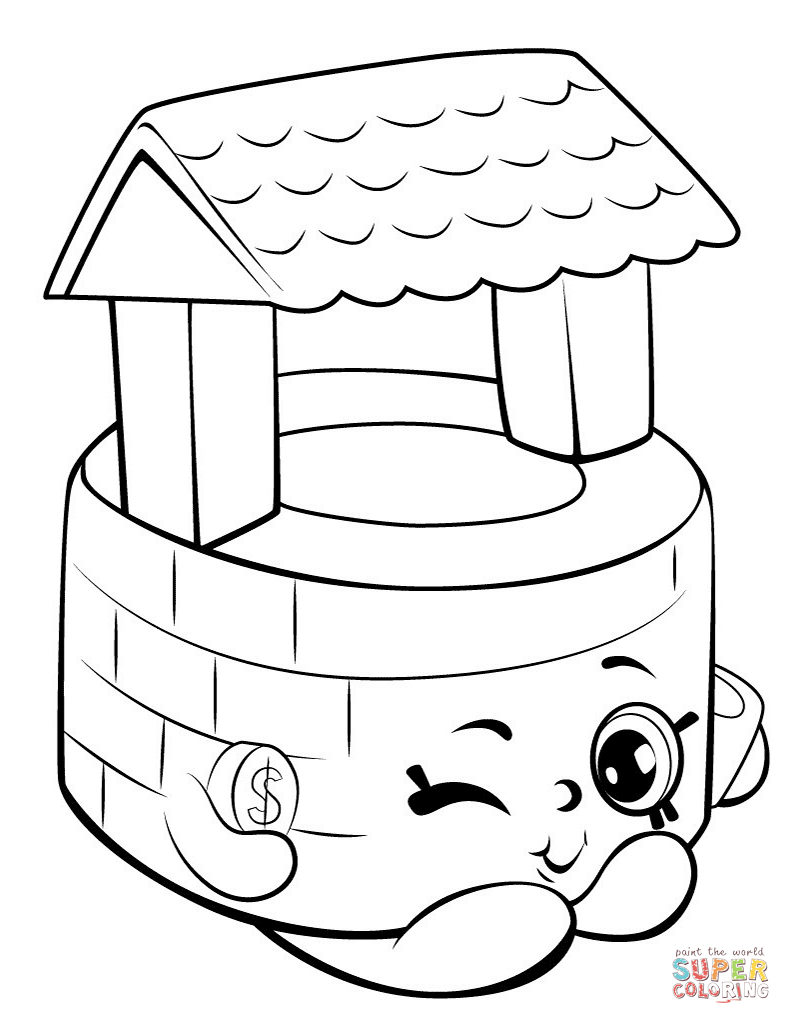 Penny Wishing Well Shopkin Coloring Page