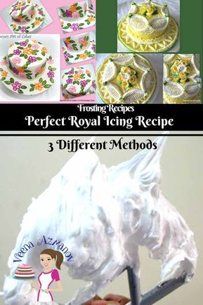 Royal Icing Recipe is a quick and easy icing that dries hard. It's very sweet because it's mostly powder sugar and Egg whites. It has endless uses in the cake and cookie decorating world. Once you learn the right method to make it, and the right consistency that works for you, it can be a fun experience. #easyroyalicingrecipe