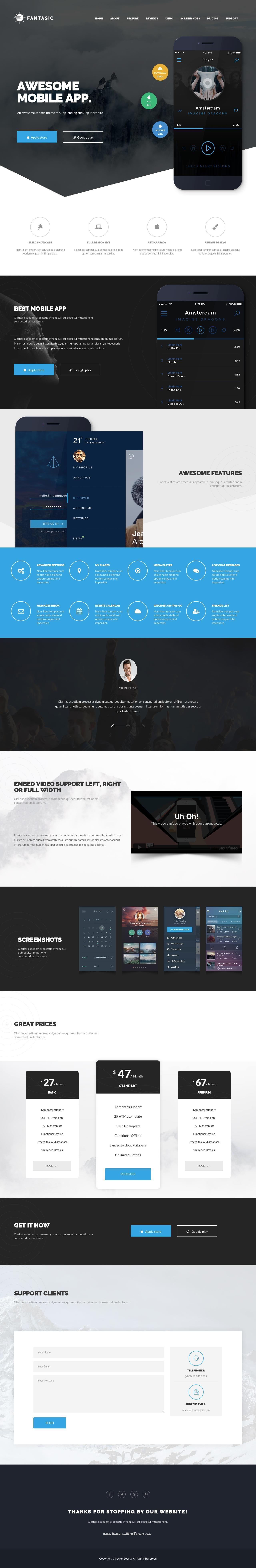 Fantasic Multipurpose Joomla Landing Page Template Landing Pages - Joomla landing page template