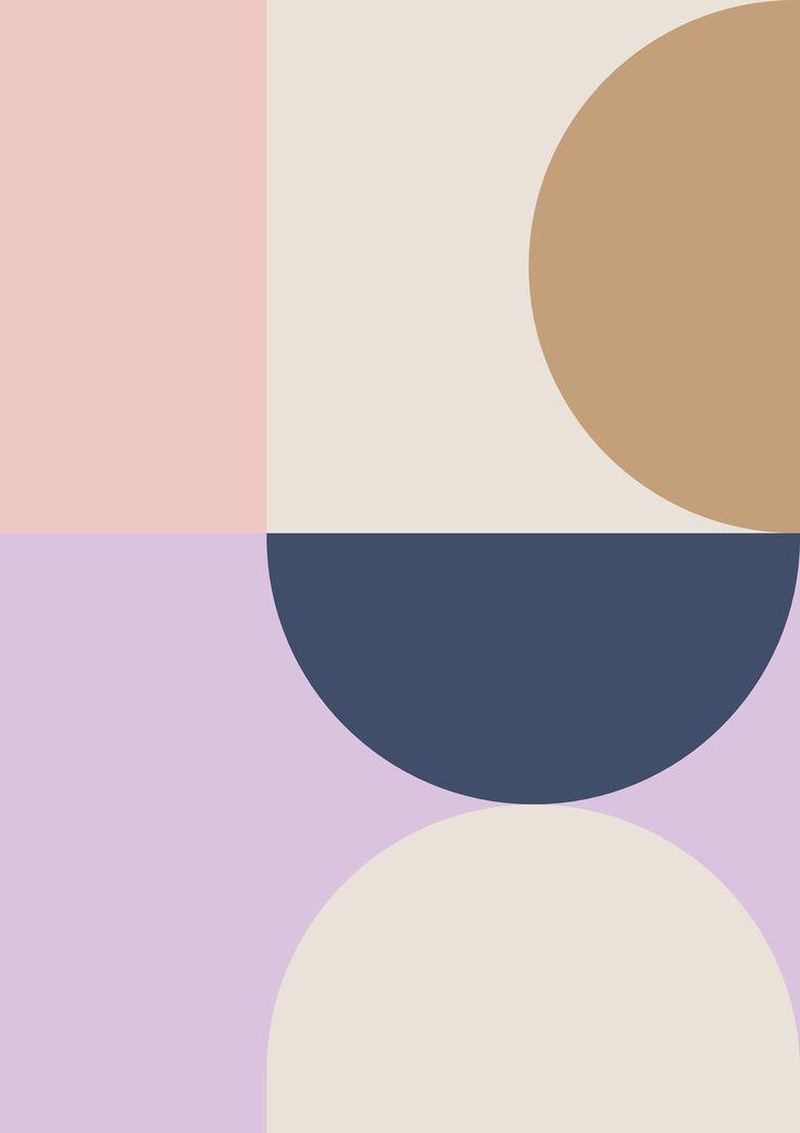 Abstract geometric print, modern art, Scandinavian print, mid century Wall Art, …