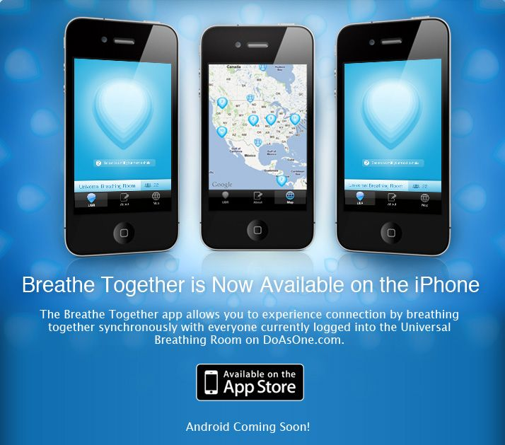 iPhone app and Website to allow us to breathe in sync with