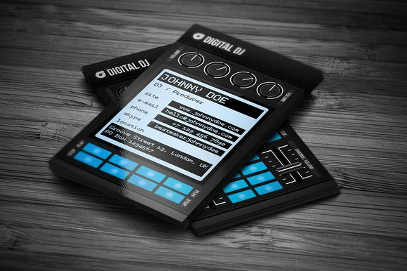Check Out Digital DJ Business Card PSD By Vinyljunkie On Creative Market
