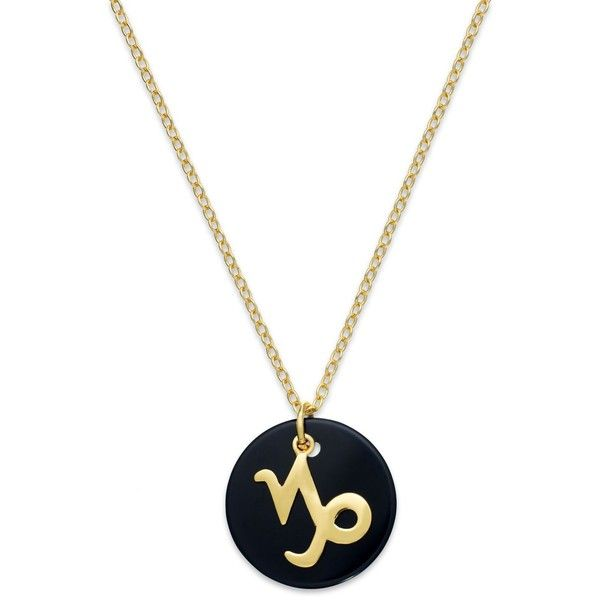 Studio Silver Capricorn Pendant Necklace in 18k Gold over Sterling... ($25) ❤ liked on Polyvore