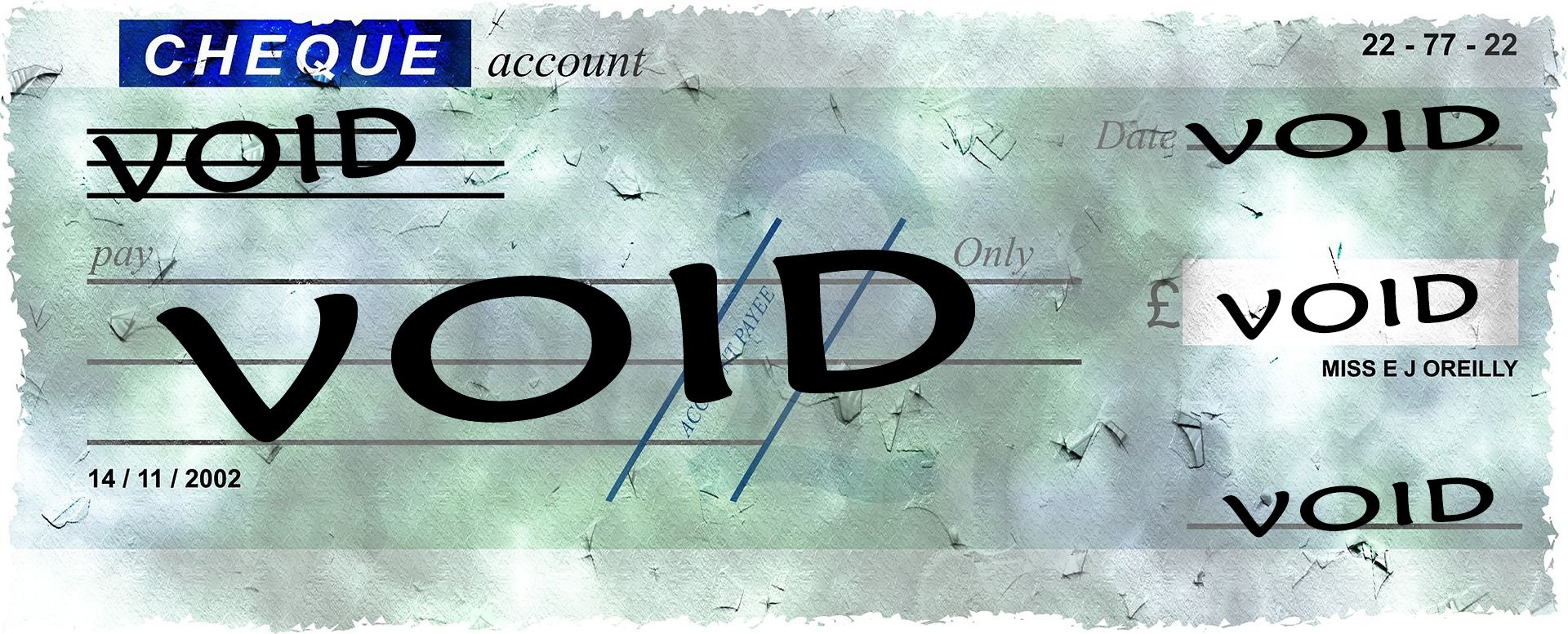How To Void A Check Word Line Negotiable Instruments Void