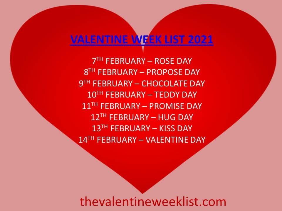 Valentine Week List 2021 In 2020 Happy Valentine Day Quotes Happy Kiss Day Images Happy Hug Day Images
