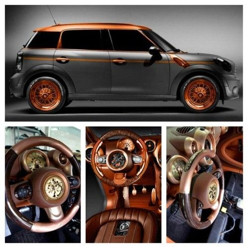 Steampunk Mini Cooper Countryman! My dream car. Except I hate the countryman. I may have to make an exception.