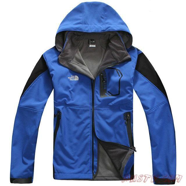 sélection premium e5e7f c1427 Blouson hiver The North Face Sale Windstopper Veste Bleu ...