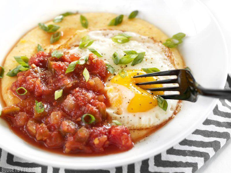 Cheddar Grits Breakfast Bowls Recipe Breakfast Bowls Grits Breakfast Hearty Breakfast