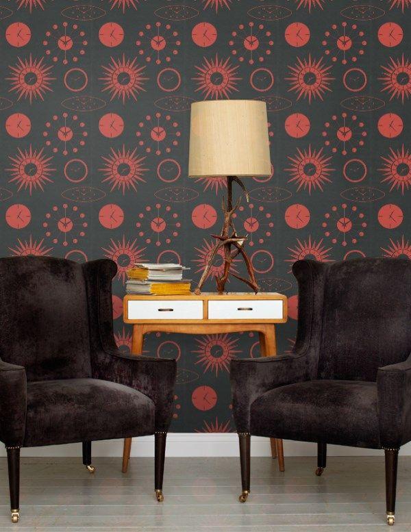 A groovy 1970's retro clock theme. http://www.wowwallpaperhanging.com.au/retro-wallpaper/