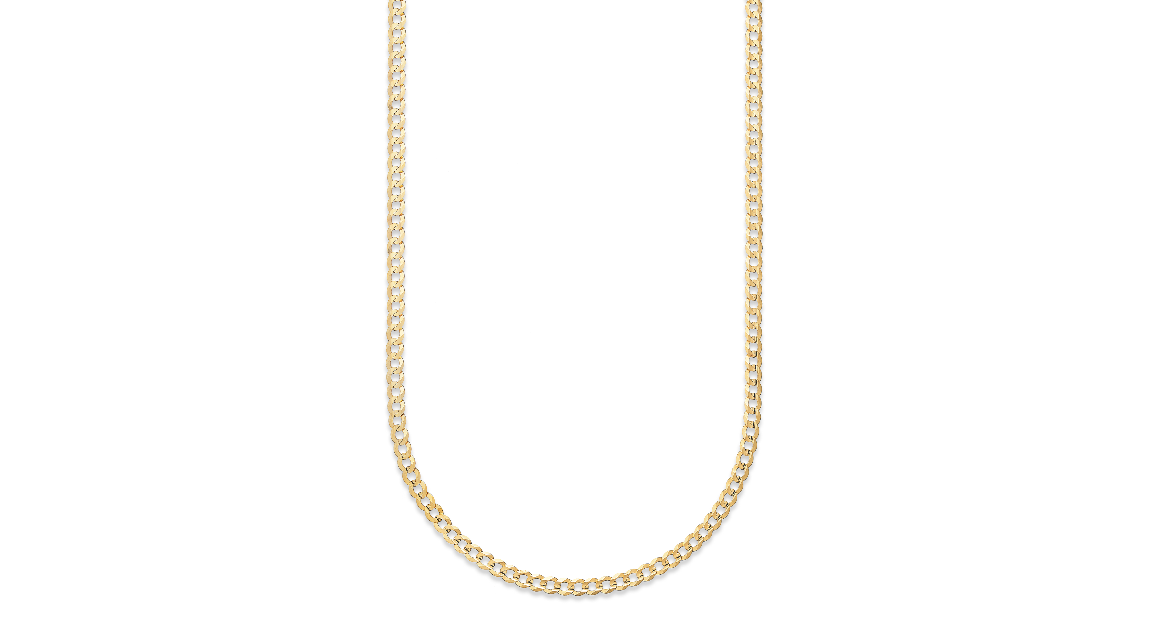 "Curb Chain 22"" Necklace in 14k Gold"