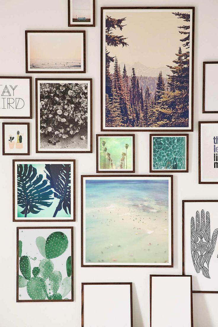 Walnut wood art print frame walnut wood wood art and gallery wall