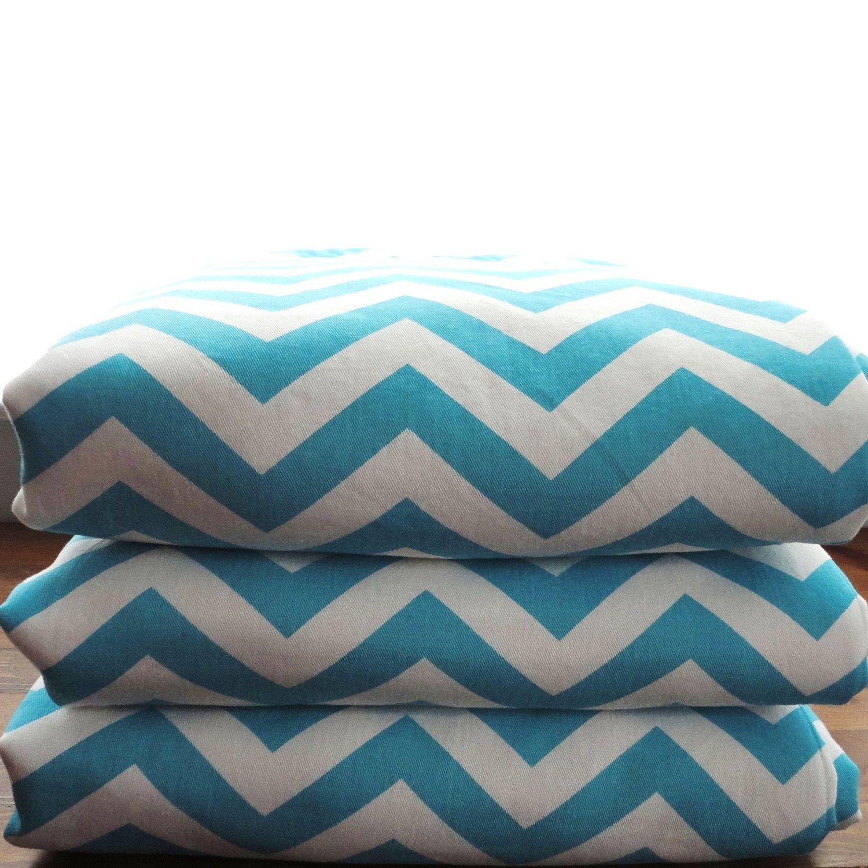 Waterproof Picnic Blanket, Oversized Stumptown Original, Teal Chevron. $140.00, via Etsy.