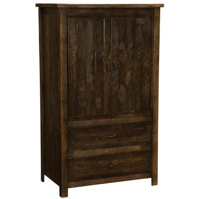 Fireside Lodge Premium Frontier Armoire Color Red Canyon